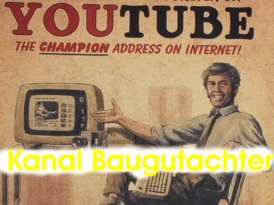 Baugutachter Kanal youtube - Video