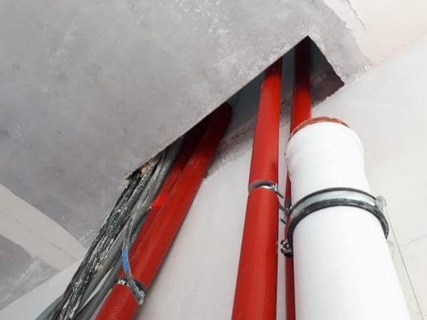 Prüfung Schallschutz Rohinstallation der Sanitär, Heizung und Elektroarbeiten