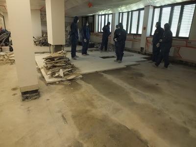 Versicherungsgutachten Fußboden komplett raus nach Wasserschaden